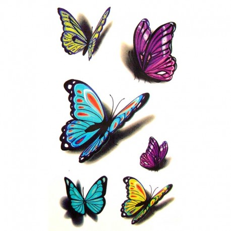 tatouage ephemere tatouage temporaire tatouage papillon 3d. Black Bedroom Furniture Sets. Home Design Ideas
