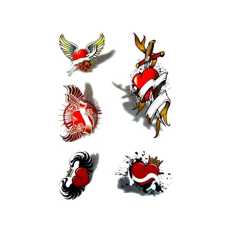 Tatouage ephemere coeur tatouage temporaire coeur tatouage coeur - Image tatouage coeur ...