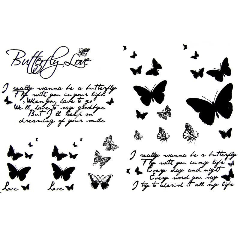 tatouage ecriture tatouage papillon faux tatouage ephemere lettre. Black Bedroom Furniture Sets. Home Design Ideas