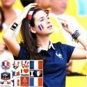 Tatouage éphémère Fan de Foot France