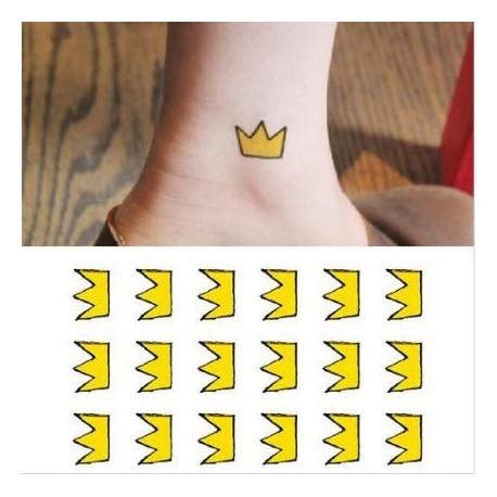 tatouage-ephemere-couronne-jaune