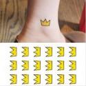 Tatouage éphémère couronne jaune
