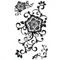 Tatouage fleur noire