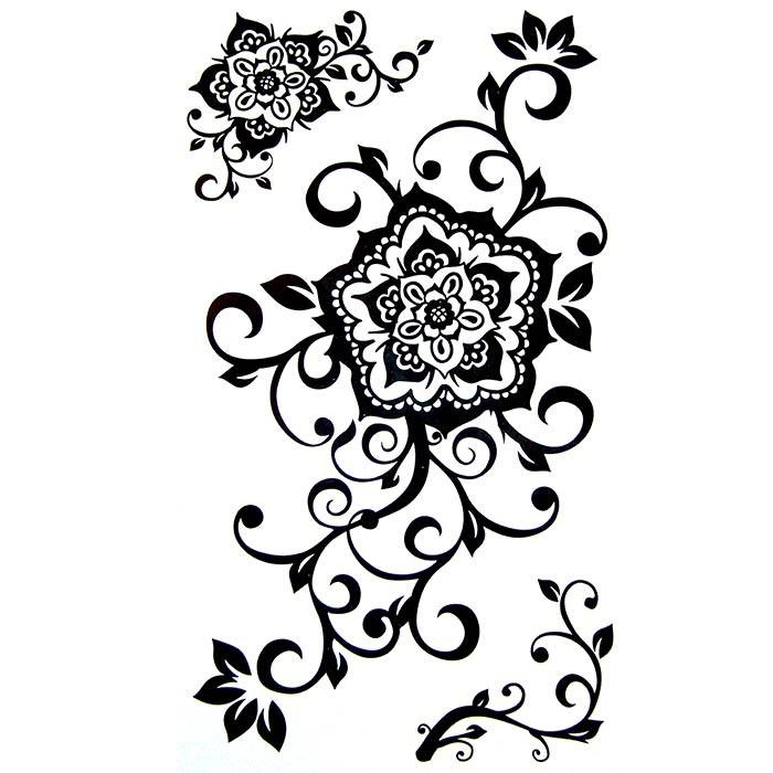 tatouage dentelle tatouage ephemere dentelle tatouage fleur