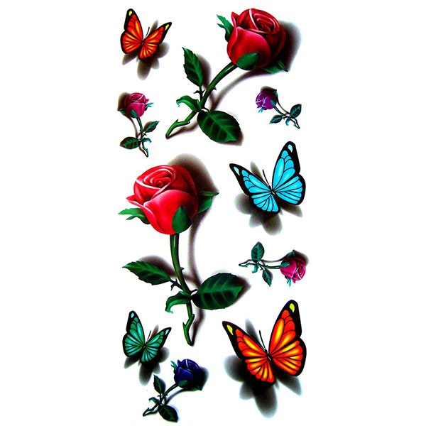 Et rose tattoo pictures to pin on pinterest page 2 - Tatouage de papillon ...
