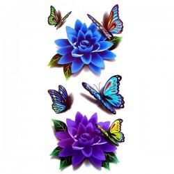 tatouage-papillon-et-lotus-3d