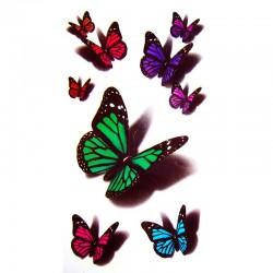 tatouage-papillons-3d