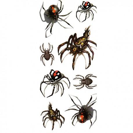 tatouage-araignees-multiples
