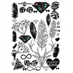 tatouage-graphique-diamant-et-plume