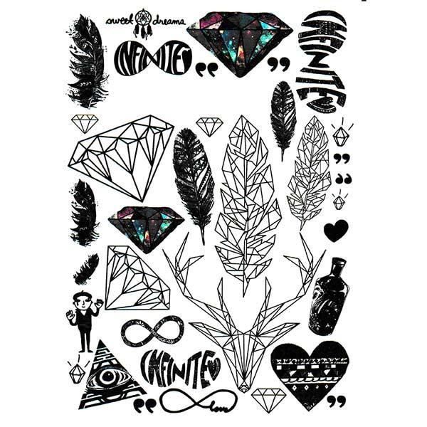Tatouage Graphique Tatouage Diamant