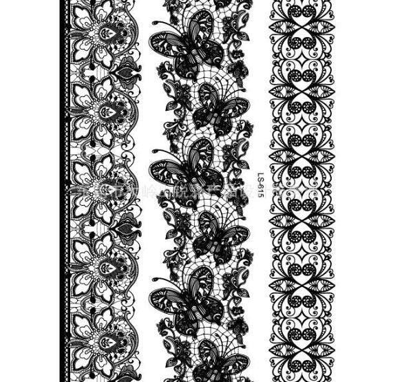 tatouage ph m re dentelle papillons et fleurs. Black Bedroom Furniture Sets. Home Design Ideas