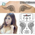 Tatouage ephemere aile d'ange et croix