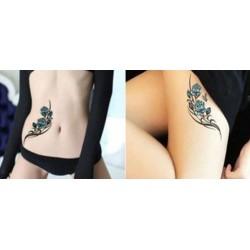 tatouage-temporaire-rose-bleue