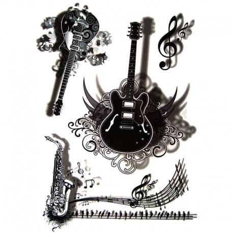 tatouage ephemere tatouage temporaire tatouage guitare. Black Bedroom Furniture Sets. Home Design Ideas