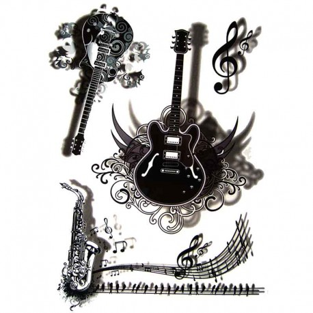 Tatouage-temporaire-guitare-3D