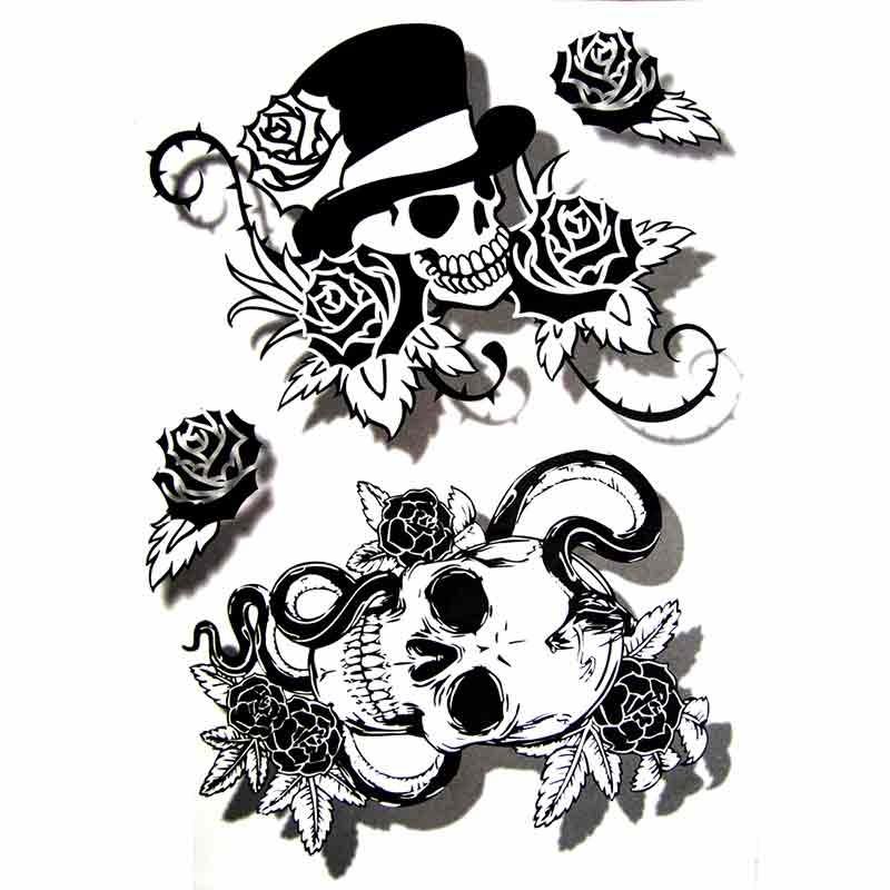 Tatouage Tête De Mort : tatouage temporaire crane tete de mort ~ Nature-et-papiers.com Idées de Décoration