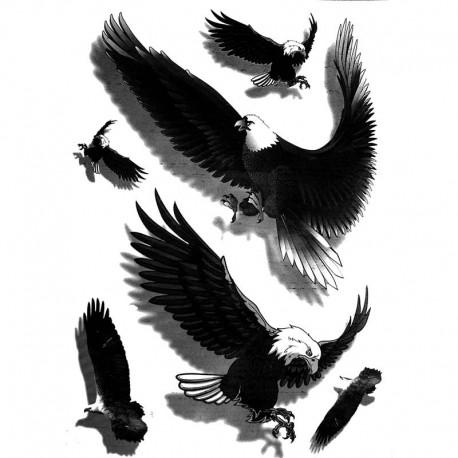 Tatouage-ephemere-aigle-3D