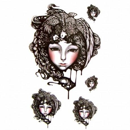 Tatouage ephemere visage de femme
