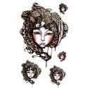 Tatouage éphémère visage de femme