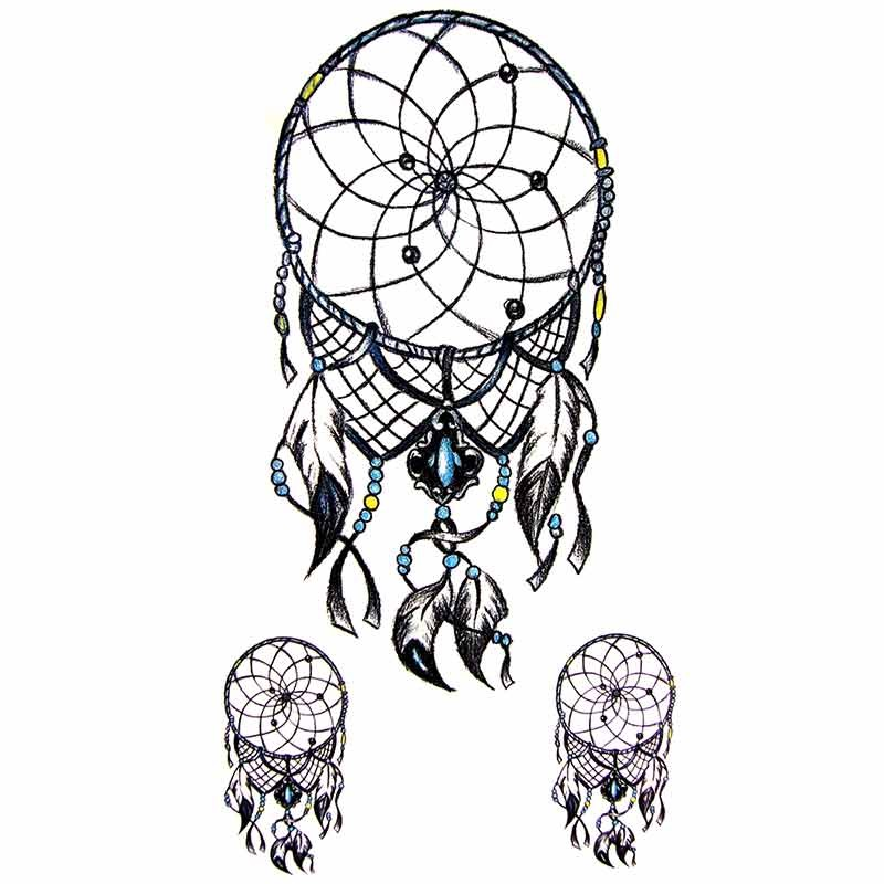 tatouage ephemere attrape reves dream catcher. Black Bedroom Furniture Sets. Home Design Ideas