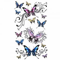 tatouage-ephemere-papillons-multicouleur-floral