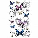 Tatouage ephemere papillons multicouleur