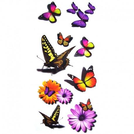 tatouage-ephemere-papillon-3D-et-marguerite
