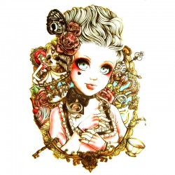 tatouage-ephemere-lady-vintage