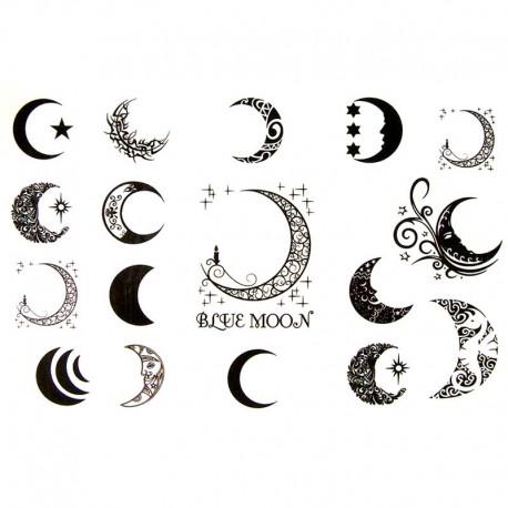 Tataouage ephemere lune - Tatouage lune poignet ...