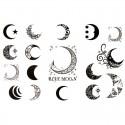 Tatouage éphémère lune