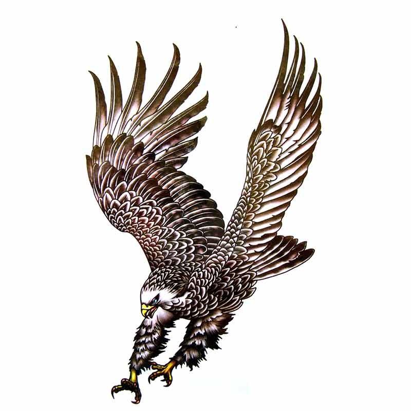 tatouage ephemere aigle oiseaux. Black Bedroom Furniture Sets. Home Design Ideas
