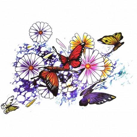 tatouage-ephemere-femme-papillon-et-fleur-multicouleur
