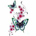 Tatouage éphémère papillon et fleur de cerisier