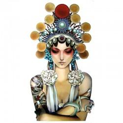 tatouage-ephemere-portrait-de-femme art-déco