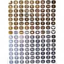 Tatouage éphémère lettres métalliques