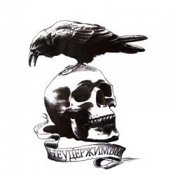 Tatouage-ephemere-tete-de-mort-corbeau