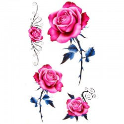 tatouage-ephemere-rose-old-school
