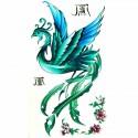Tatouage éphémère phoenix