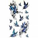 Tatouage éphémère papillon bleu
