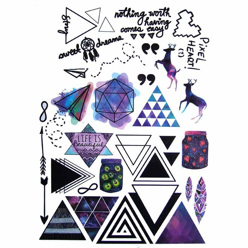 tatouage graphique triangle. Black Bedroom Furniture Sets. Home Design Ideas