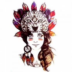 Tatouage-temporaire-portrait-de-femme