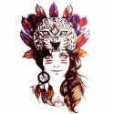 Tatouage temporaire portrait de femme