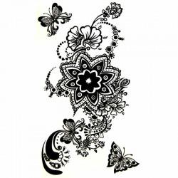 Tatouage-temporaire-dentelle-fleur-et-papillon