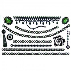 Tatouage-temporaire-bracelet-et-chaine-cheville