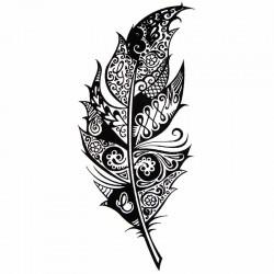vente tatouage ephemere plume tatouage temporaire plume pas cher tempo tattoo. Black Bedroom Furniture Sets. Home Design Ideas