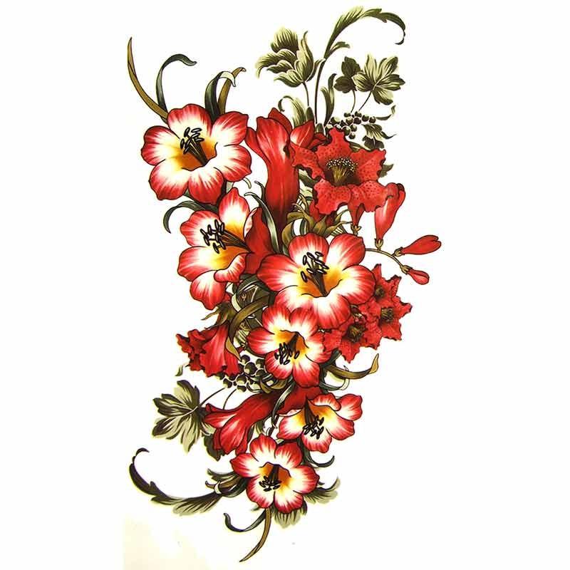 Tatouage temporaire fleur d 39 hibiscus - Tatouage fleur d hibiscus ...