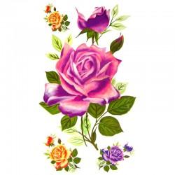 Tatouage-temporaire-roses-multicouleur