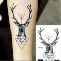 Tatouage éphémère tête de cerf