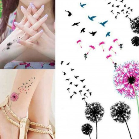 tatouage-ephemere-pissenlit-et-hirondelles