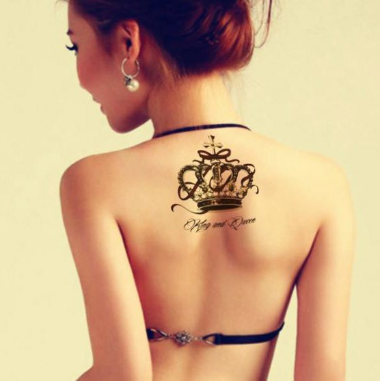 Tatouage temporaire Couronne KIng and Queen